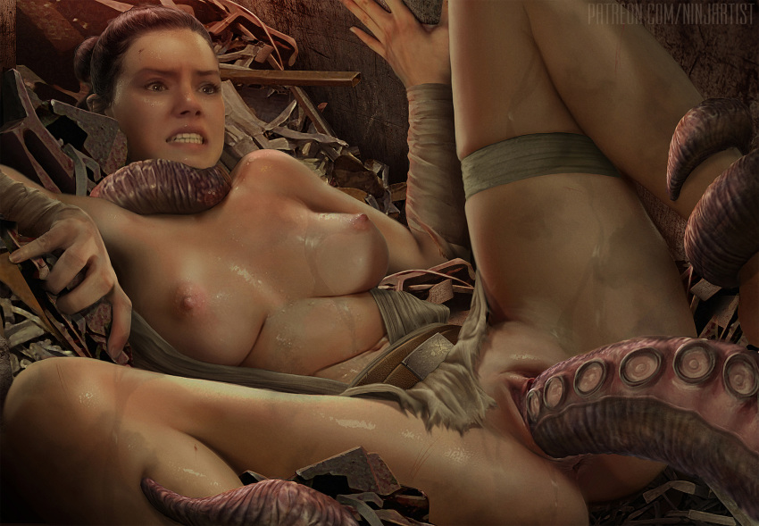 naked star wars force rey the awakens Action league now stinky diver
